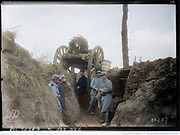 "Colorized photographs soldiers from the World War One<br /> <br /> With his impressive colorized photographs of the World War One, Frédéric Duriez gives us a new look at the conflict that ravaged the world between 1914 and 1918, revealing the difficult daily life of the French soldiers. <br /> <br /> Photo Shows:""Chilly in the Somme, the 28th regiment soldiers in a trench .<br /> ©Frédéric Duriez/Exclusivepix Media"