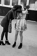 KATIE GRIFFITHS; CAITLIN PRICE-WARD, The Cheltenham Festival Ladies Day. Cheltenham Spa. 11 March 2015