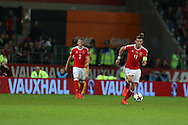Gareth Bale of Wales in action.  Wales v Moldova , FIFA World Cup qualifier at the Cardiff city Stadium in Cardiff on Monday 5th Sept 2016. pic by Andrew Orchard, Andrew Orchard sports photography