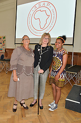 Left to right, ALICE KLAAS, PATRICIA HIGHAM and NONCEBA TENZA at a lunch in aid of the charity African Solutions to African Problems (ASAP) held at the Royal Horticultural Hall, Vincent Square, London on 19th May 2016.