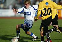 Raufoss 28092003 Raufoss Fotball - FK Haugesund 4-1. Christian Grindheim , FK Haugesund.<br /> <br /> Foto: Digitalsport
