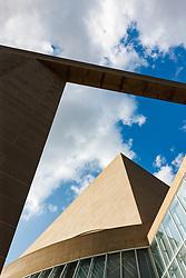 Morton H. Meyerson Symphony Center designed by I.M. Pei, Dallas, Texas, USA.