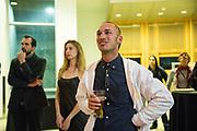 Content Magazine host their 7th Anniversary Pick Up Party at the San Jose City Hall Rotunda in San Jose, California, on December 12, 2018. (Stan Olszewski/SOSKIphoto)