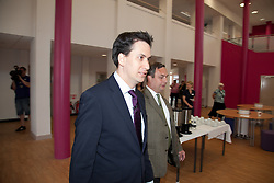 © London News Pictures. 04/05/2011 Ed Milliband visits Northfleet Girls School for public questions ad answers session ahead of local elections.