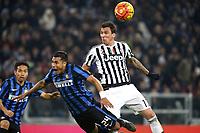 Jeison Murillo Inter, Mario Mandzukic Juventus,<br /> Torino 27-01-2016, Juventus Stadium, Football Calcio 2015/2016 Coppa Italia, Juventus - Inter, Foto Filippo Alfero/Insidefoto