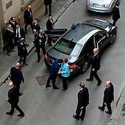 Angela Merkel e Matteo Renzi in conferenza stampa durante il bilaterale Italia-Germania.<br /> 23 gennaio 2015 . Daniele Stefanini /  OneShot<br /> <br /> Angela Merkel and Matteo Renzi during the bilateral Italy-Germany, Florence, January 23, 2015. Daniele Stefanini / OneShot