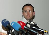 Friidrett<br /> 20.07.2010<br /> Foto: Morten Olsen, Digitalsport<br /> <br /> Pressekonferanse Norges Fri-idrettsforbund<br /> Ullevaal Stadion<br /> Anledning av at kappgjengeren Erik Tysse har avlagt en positiv dopingprøve<br /> <br /> Ronny Nilsen - sportssjef NFIF