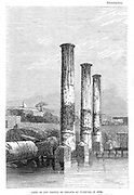 Frontispiece of the ninth edition of Charles Lyell 'Principles of Geology', London, 1853, showing the Temple of Serapis at Puzzuoli in 1836 and how it had slowly subsided, thus supporting the Uniformitarian theory of geology