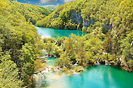 Plitvince Lakes, Croatia. .<br /> <br /> Visit our CROATIA HISTORIC SITES PHOTO COLLECTIONS for more photos to download or buy as wall art prints https://funkystock.photoshelter.com/gallery-collection/Pictures-Images-of-Croatia-Photos-of-Croatian-Historic-Landmark-Sites/C0000cY_V8uDo_ls