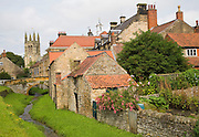 Historic settlement of Helmsley, north Yorkshire, England