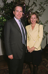 MR & MRS NICHOLAS JONES, he is Managing Director of bankers Lazards, at a reception in London on April 9th 1997.LXN 29
