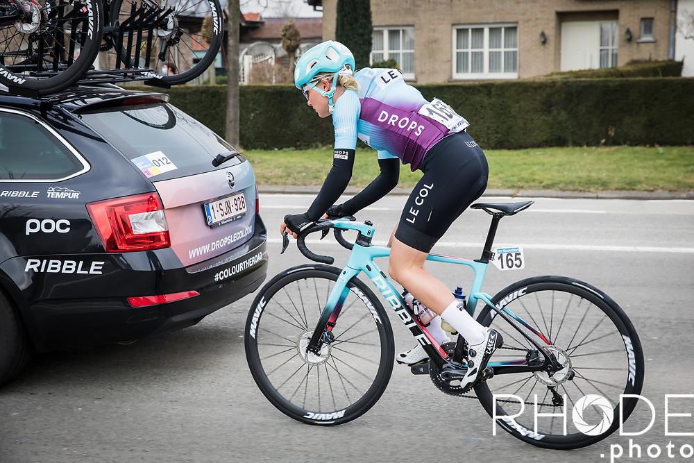 Maike van der Duin (NED/Drops Le Col)<br /> <br /> 13th Women's Omloop Het Nieuwsblad 2021 <br /> 1 Day Race: Gent – Ninove 124km<br /> <br /> ©Rhode.Photo