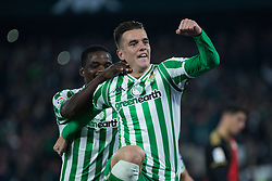 December 9, 2018 - Seville, Andalucía, Spain - Giovani Lo Celso, Real Betis, celebrate the first goal for Real Betis during the LaLiga match between Real Betis and Rayo in Benito Villamarín Stadium (Seville) (Credit Image: © Javier MontañO/Pacific Press via ZUMA Wire)