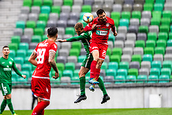 Hrovat Mario Lucas of NK Aluminij  during football match between NK Olimpija Ljubljana and NK Aluminij in Round #27 of Prva liga Telekom Slovenije 2018/19, on April 14th, 2019 in Stadium Stozice, Slovenia Photo by Matic Ritonja / Sportida