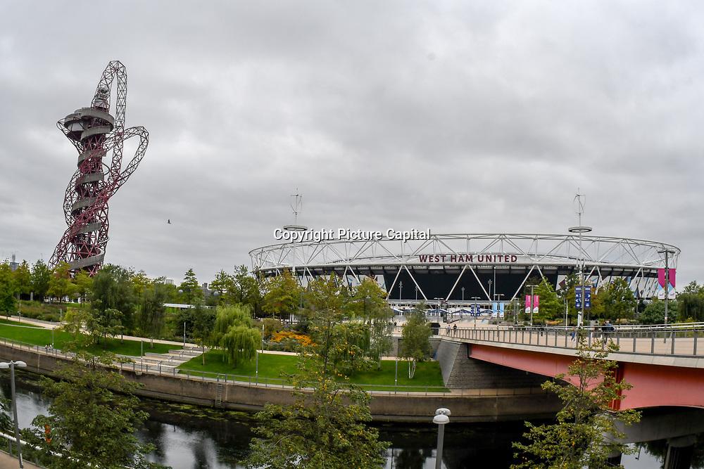 ArcelorMittal Orbit & West Ham United Football Club at Queen Elizabeth Olympic Park, London, UK 11 September 2018.