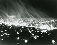 1936 Searchlights in front of Sears & Roebuck on Santa Monica Blvd.