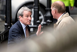 © Licensed to London News Pictures. 08/05/2019. London, UK. Secretary of State for Education DAMIAN HINDS is seen arriving at the Houses of Parliament in Westminster ahead of PMQs. Talks between Number 10 and Labour party officials continue in an attempt to reach an agreement on a withdrawal agreement from the EU. Photo credit: Ben Cawthra/LNP