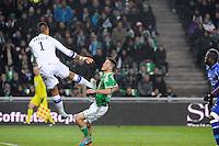 Goal Ricky VAN WOLFSWINKEL - 06.12.2014 - Saint Etienne / Bastia - 17eme journee de Ligue 1 -<br />Photo : Jean Paul Thomas / Icon Sport