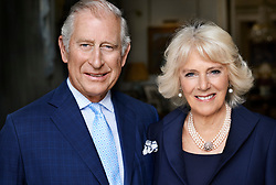 Embargoed until 2200hrs Sunday July 16, 2017.  No use after Sunday July 23, 2017. <br /><br />This photograph of the Prince of Wales and the Duchess of Cornwall, taken by Mario Testino, has been released by Clarence House to mark the Duchess's 70th birthday. The picture was taken in May 2017 in the Morning Room at Clarence House. <br />NEWS EDITORIAL USE ONLY. NO SYNDICATION. NO COMMERCIAL USE (including any use in merchandising, advertising or any other non-editorial use including, for example, calendars, books and supplements). This photograph is provided to you on condition that you will make no charge for the supply, release or publication of it and that you will pass these conditions on to any organisation to whom you supply it. The photograph must not be digitally enhanced, manipulated or modified when published.  Any use outside these terms must be cleared by Clarence House who reserve the right to decline a request for the use of the photograph. PRESS ASSOCIATION Photo. Issue date: Sunday July 16, 2017. See PA story ROYAL Duchess. Photo credit should read: Mario Testino/PA Wire