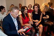 CARL MICHAELSON;  JACKIE ST. CLAIRE; MEZGHAN HUSSAINY, Stephane St. Jaymes Spring Summer 2011 fashion show.<br /> The Westbury Mayfair, Bond Street, London,DO NOT ARCHIVE-© Copyright Photograph by Dafydd Jones. 248 Clapham Rd. London SW9 0PZ. Tel 0207 820 0771. www.dafjones.com.