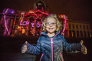 NO FEE PICTURES<br /> 30/12/16 Camille Fagan, age 5, Stepaside at the switching on of the cutting edge 3D projections to officially launch Luminosity and the NYF Dublin programme, now in its third year, NYF Dublin, the three-day citywide festival, is bigger and better than ever with an amazing programme spanning three days from the 30th December 2016 to the 1st January 2017. Visit www.NYFDublin.com for more festival information. The NYF Dublin Festival is an initiative by Fáilte Ireland in partnership with Dublin City Council and produced and promoted by Holohan Leisure and MCD Productions.. Picture:Arthur Carron