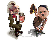 """Hitler's, Napoleon's, Einstein's missing body parts . . . . where they are now?  Review of the book """"Napoleon's Privates. Everything you wanted to know about history, but were too polite to ask."""" by Tony Perrottet. Winning Entry Communication Arts 2009. 3D modeling and Photoshop originally published for Penthouse."""