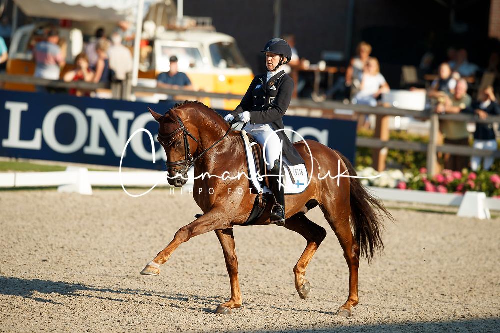 Kanerva Emma, FIN, Greek Air<br /> World ChampionshipsYoung Dressage Horses<br /> Ermelo 2018<br /> © Hippo Foto - Dirk Caremans<br /> 03/08/2018