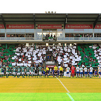 28.08.2019, Stadion Lohmühle, Luebeck, GER,  VFB Lübeck/Luebeck vs VfL Wolfsburg IIi<br /> <br /> DFB REGULATIONS PROHIBIT ANY USE OF PHOTOGRAPHS AS IMAGE SEQUENCES AND/OR QUASI-VIDEO.<br /> <br /> im Bild / picture shows<br /> Anpfiff zum Spiel VfB Luebeck gegen VfL Wolfsburg II<br /> <br /> Foto © nordphoto / Tauchnitz