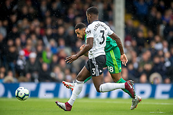 September 22, 2018 - Andre Gray of Watford scores the opening goal during the Premier League match between Fulham and Watford at Craven Cottage, London, England on 22 September 2018. Photo by Salvio Calabrese. (Credit Image: © AFP7 via ZUMA Wire)