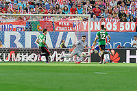 Atletico de Madrid´s Antoine Griezmann and Athletic Club´s goalkeeper Iago Herrerin, Unai Bustinza and Xabier Etxeita during 2014-15 La Liga match between Atletico de Madrid and Athletic Club at Vicente Calderon stadium in Madrid, Spain. May 02, 2015. (ALTERPHOTOS/Luis Fernandez)