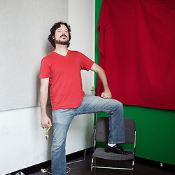 Spock Buckton, aka Jesse Short, one of the co-founder of PopPorn, an american website interested into alternative porn etc. 22 June 2010. Photo: Antoine Doyen