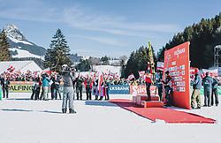 15.02.2020, Kulm, Bad Mitterndorf, AUT, FIS Ski Flug Weltcup, Kulm, Herren, Siegerehrung, im Bild v.l.: 2. Platz Timi Zajc (SLO), Sieger Piotr Zyla (POL), 3. Platz Stefan Kraft (AUT) // f.l.: 2nd placed Timi Zajc of Slovenia Winner Piotr Zyla of Poland 3rd placed Stefan Kraft of Austria during the winner ceremony for the men's FIS Ski Flying World Cup at the Kulm in Bad Mitterndorf, Austria on 2020/02/15. EXPA Pictures © 2020, PhotoCredit: EXPA/ JFK
