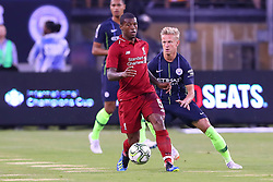 July 25, 2018 - East Rutherford, NJ, U.S. - EAST RUTHERFORD, NJ - JULY 25:  Liverpool midfielder Georginio Wijnaldum (5) during the first half of the International Champions Cup Soccer game between Liverpool and Manchester City on July 25, 2018 at Met Life Stadium in East Rutherford, NJ.  (Photo by Rich Graessle/Icon Sportswire) (Credit Image: © Rich Graessle/Icon SMI via ZUMA Press)