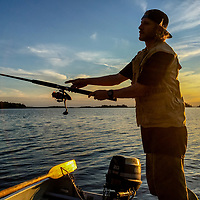 Ben Wiltsie fishes in Lake of the Woods, Ontario, Canada.