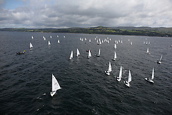 Day 4 NeilPryde Laser National Championships 2014 held at Largs Sailing Club, Scotland from the 10th-17th August.<br /> <br /> Laser 4.7 Radial Fleet<br /> <br /> Image Credit Marc Turner