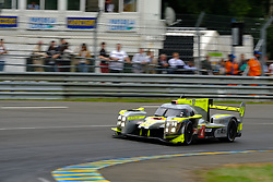 June 17, 2018 - Le Mans, Sarthe, France - Bykolles Racing Team ENSO CLM P1/01 NISMO Driver DOMINIK KRAIHAMER (AUT) in action during the 86th edition of the 24 hours of Le Mans 2nd round of the FIA World Endurance Championship at the Sarthe circuit at Le Mans - France (Credit Image: © Pierre Stevenin via ZUMA Wire)