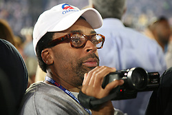 Filmmaker Spike Lee shooting at the DNC following Barack Obama's democratic presidential nomination speech., Invesco Field, Denver, Colorado, August 28, 2008.