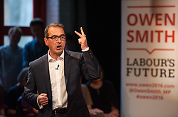 © Licensed to London News Pictures. 03/08/2016. Bristol, UK.  OWEN SMITH, who is standing in the election for leadership of the Labour Party against the current leader Jeremy Corbyn, gives a speech followed by a Q&A at The Station in Bristol city centre. Photo credit : Simon Chapman/LNP