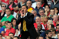 Phil Brown (Hull City Manager) shouts with his hands to his mouth. Arsenal Vs Hull City. Barclays Premier League. Emirates Stadium. London. 27/09/2008. Credit Colorsport/Garry Bowden
