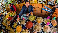 Interior of a spice shop, Downtown Amman, Jordan.