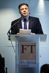 © Licensed to London News Pictures. 19/01/2015. LONDON, UK. Ed Balls, Labour's Shadow Chancellor speaks at the UK launch of the Commission on Inclusive Prosperity's report at Financial Times HQ in London. Photo credit : Tolga Akmen/LNP