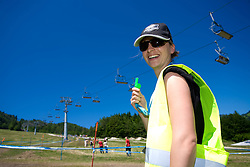 Security at MTB Downhill European Championships, on June 14, 2009, at Kranjska Gora, Slovenia. (Photo by Vid Ponikvar / Sportida)