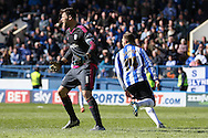 Cardiff City goalkeeper, David Marshall (1) distraught after Sheffield Wednesday striker Gary Hooper (14) scores to make it 3-0 during the Sky Bet Championship match between Sheffield Wednesday and Cardiff City at Hillsborough, Sheffield, England on 30 April 2016. Photo by Ellie Hoad.