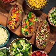 Hot Potato Bar including a Broccoli-Cedar Potato, Pizza Potato and Tex-Mex Potato. Nathan Lambrecht/Journal Communications