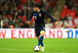 USA's Jorge Villafana in action during the International Friendly at Wembley Stadium, London. PRESS ASSOCIATION Photo. Picture date: Thursday November 15, 2018. See PA story SOCCER England. Photo credit should read: Mike Egerton/PA Wire. RESTRICTIONS: Use subject to FA restrictions. Editorial use only. Commercial use only with prior written consent of the FA. No editing except cropping.