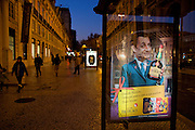 "A Portuguese company advertises its liquor brand using digital composed images of German Chancellor Angela Merkel and French President Nicolas Sarcozy holding a Licor Beirão bottle, it can be read in the muppie among other things, ""Dear Nicolas. Portugal is giving its best. Happy Holidays."" , in Lisbon, Portugal. 27/12/2011 IN SALES IN PORTUGAL"