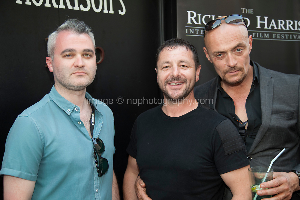 Zeb Moore and guests  at the Richard Harris International Film Festival short film screening at the 70th Cannes Film Festival, Wednesday 24th May 2017, Morrison's Irish Pub, Cannes, France