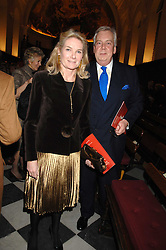 MR DAVID McDONOUGH and LADY MARY-GAYE CURZON at a carol concer 'Carols From Chelsea - A Celebration of Christmas' held at the Royal Hospital Chapel, Chelsea in aid of The Institute of Cancer Research on 4th December 2007.<br /><br />NON EXCLUSIVE - WORLD RIGHTS