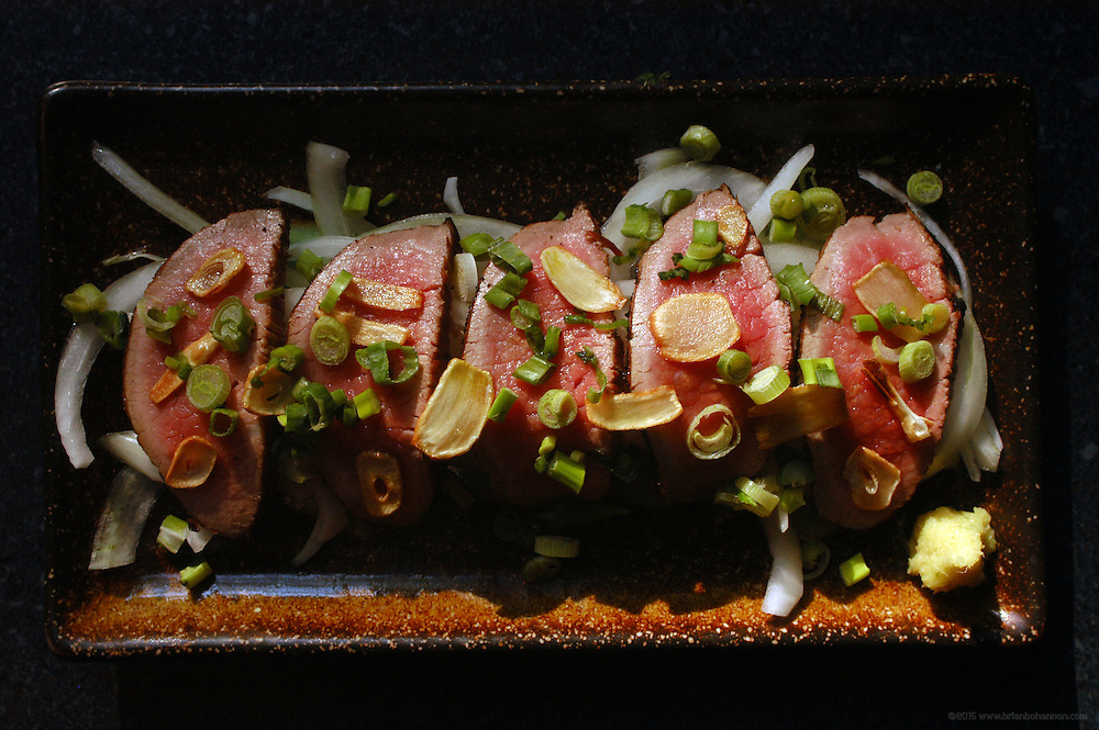 Maido: Beef Tataki with Ponzu sauce.