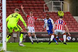 Ryan Nyambe of Blackburn Rovers penetrates Stoke's penalty area - Mandatory by-line: Nick Browning/JMP - 19/12/2020 - FOOTBALL - Bet365 Stadium - Stoke-on-Trent, England - Stoke City v Blackburn Rovers - Sky Bet Championship